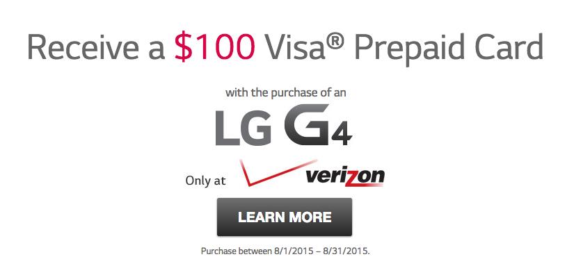 lg g4 verizon deal