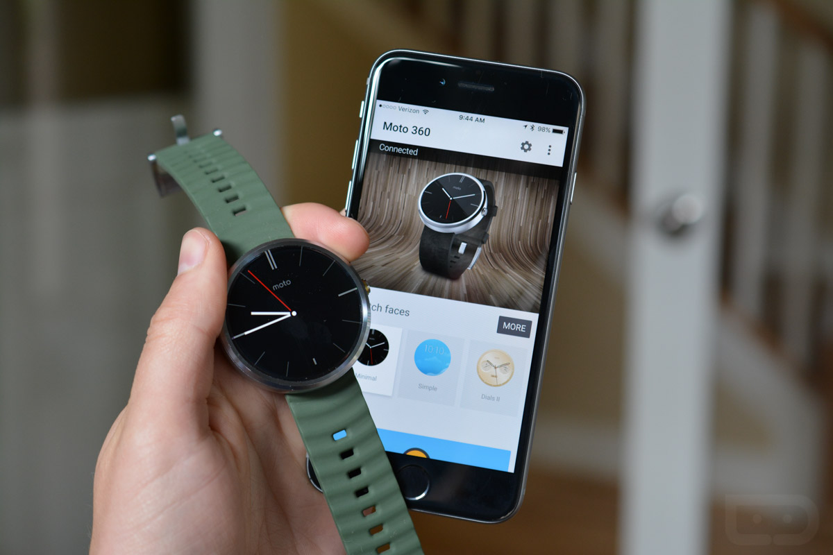 moto 360 for iphone moto 360 can pair with android wear on ios after all 15708