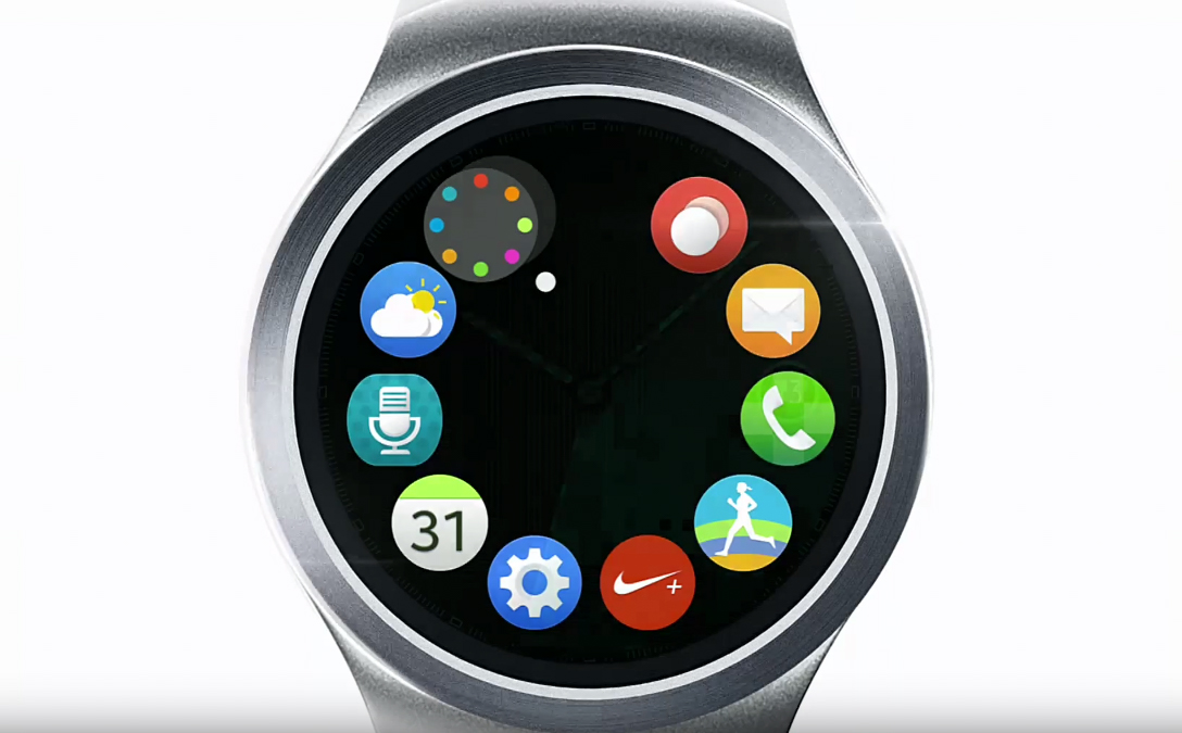 samsung teased its new gear s2 round smartwatch today droid life. Black Bedroom Furniture Sets. Home Design Ideas