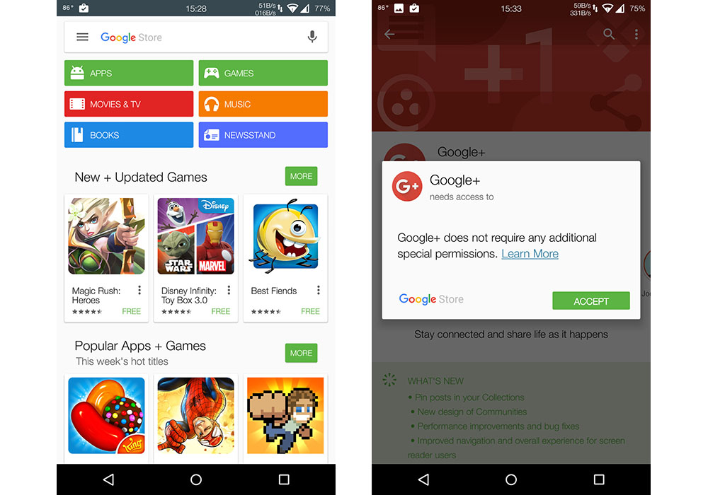 google store replaces google play