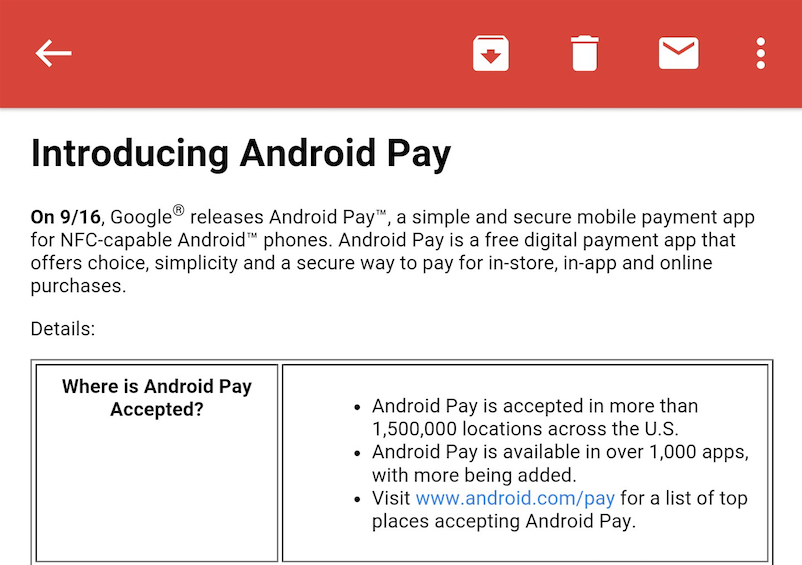 verizon android pay