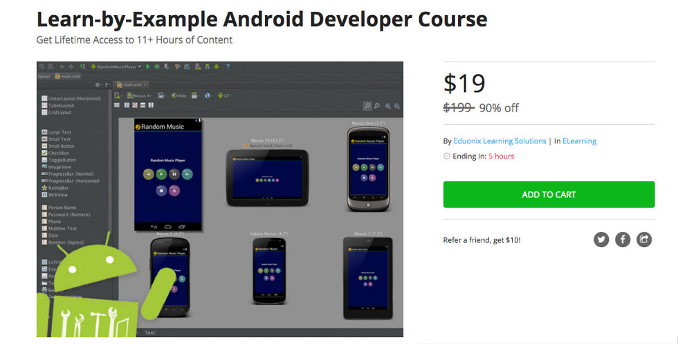 Deal: Buy the Learn-by-Example Android Developer Course for $19