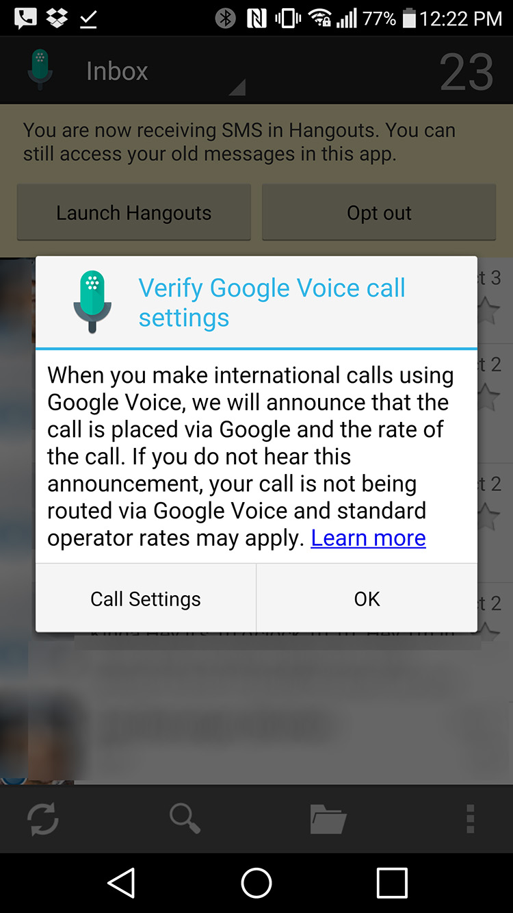 google voice update
