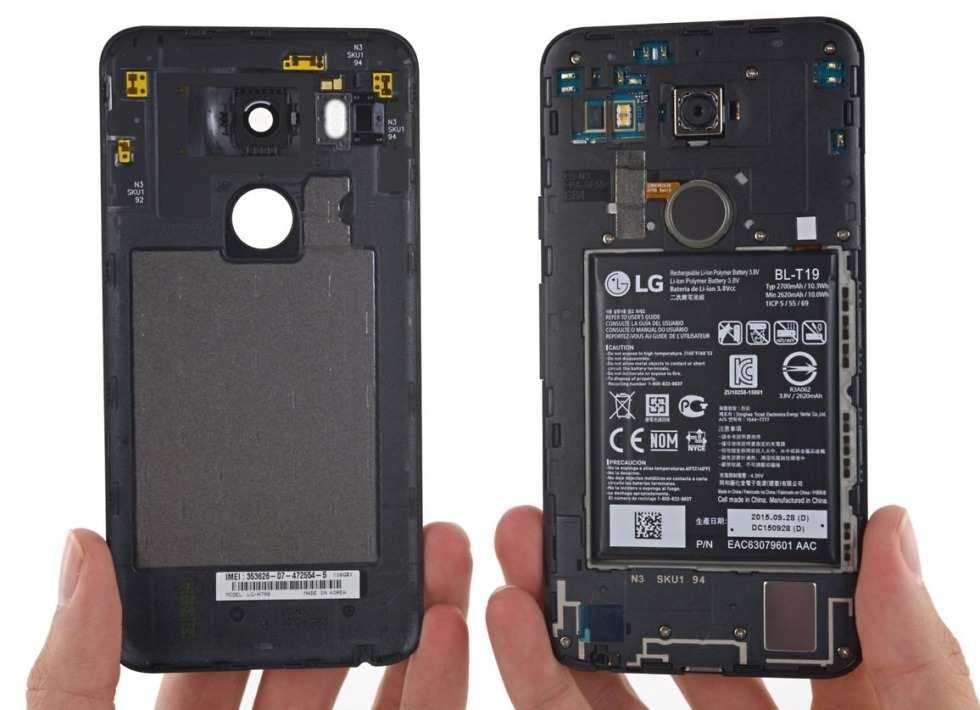 nexus 5x teardown