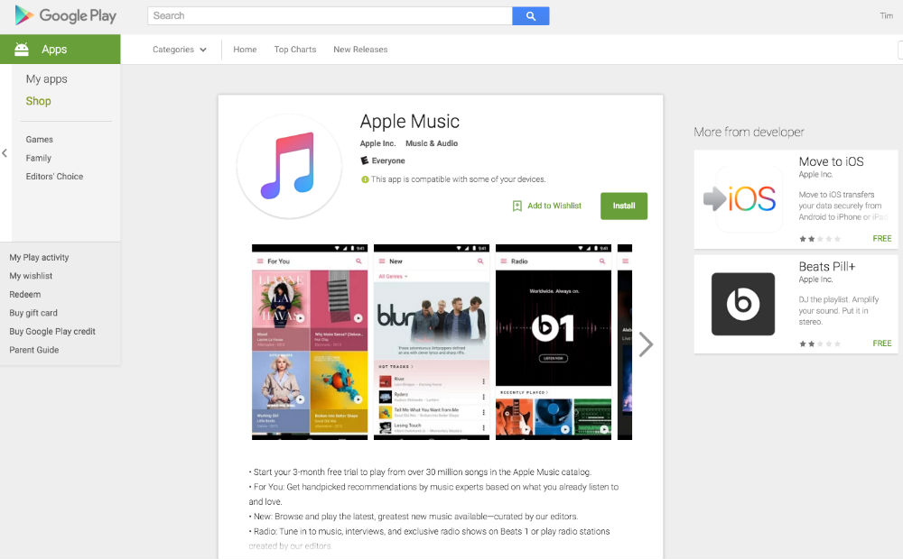 Apple Music Now Available on Google Play – Droid Life
