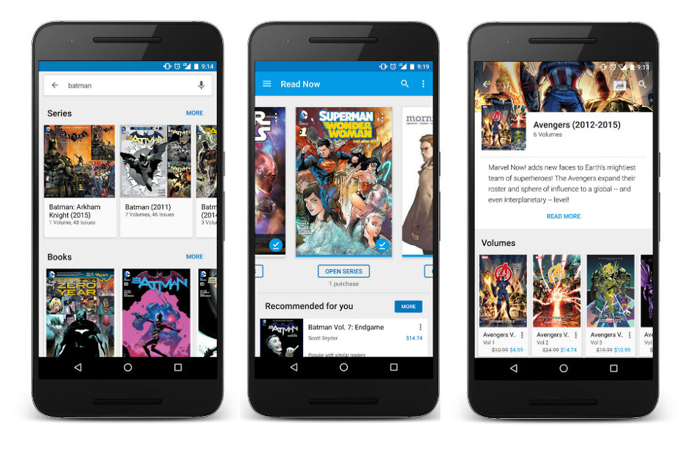 Google Play Books Receive Update to Better Handle Comic Books