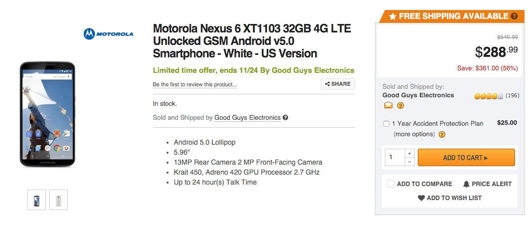 neuxs 6 deal
