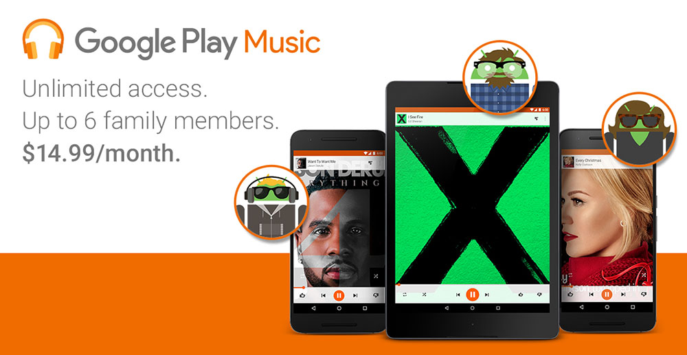 google play music family plan