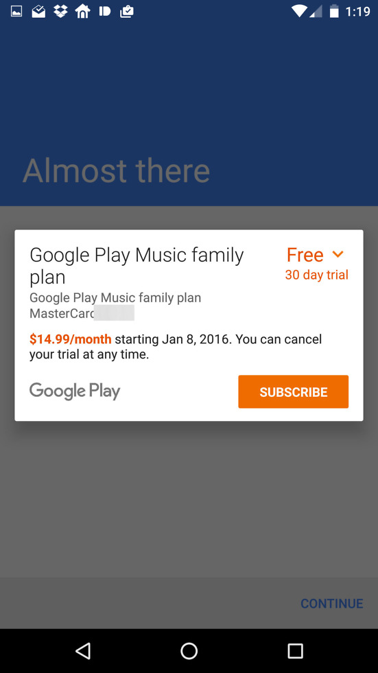 how to use google play music family plan