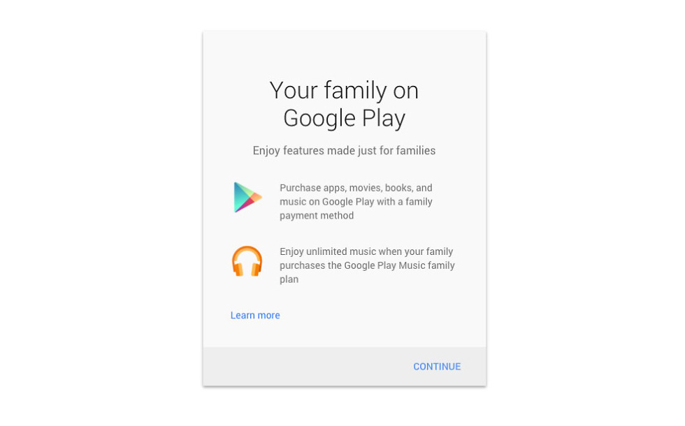 google play family payment