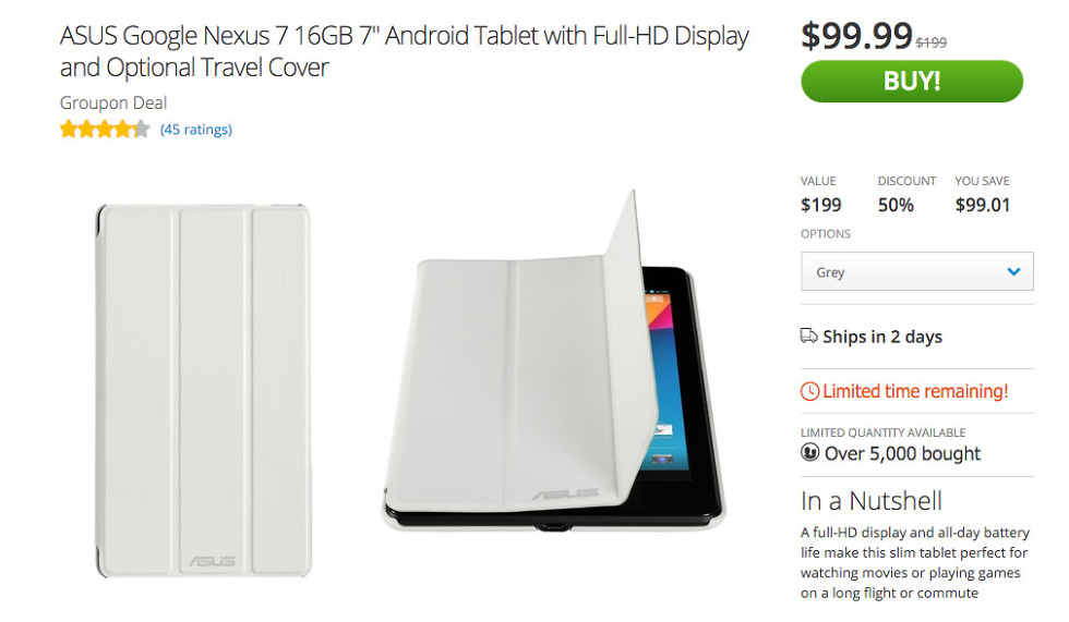 nexus 7 2013 deal