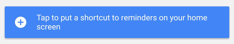 tap shortcut reminders