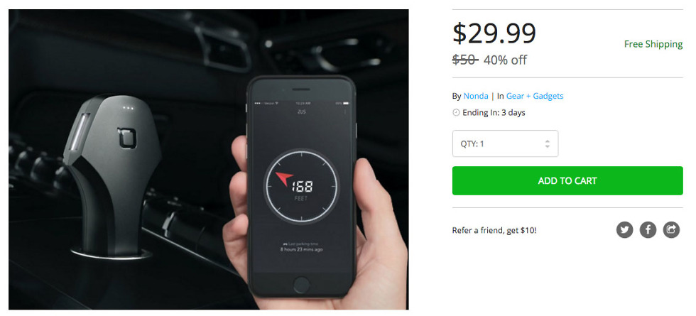 zus car charger deal