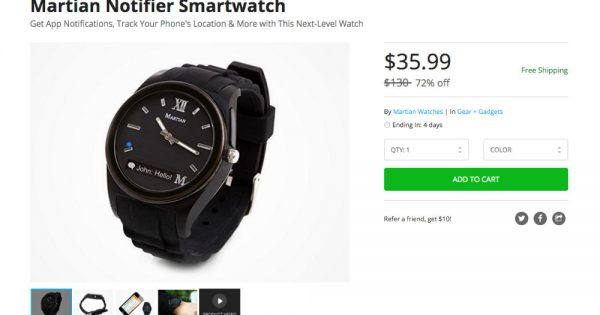 Deal Don T Want Android Wear Grab A Martian Notifier For Only 36