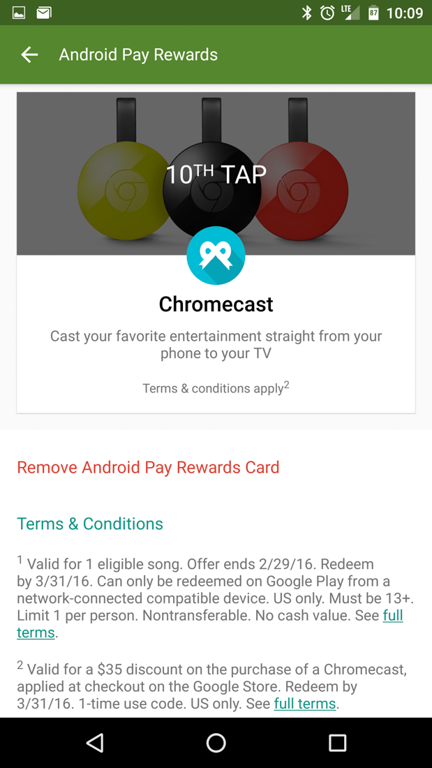 android pay free chromecast-3