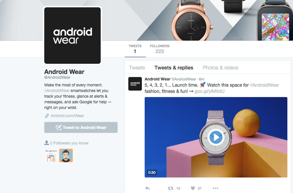android wear twitter