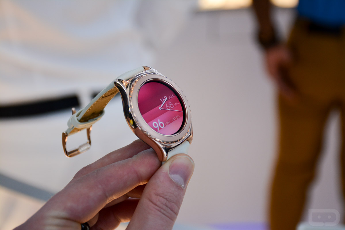 ces gear s2 classic rose gold platinum