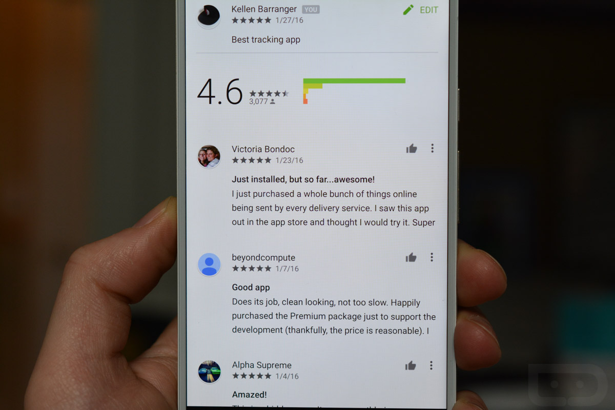 google play thumbs