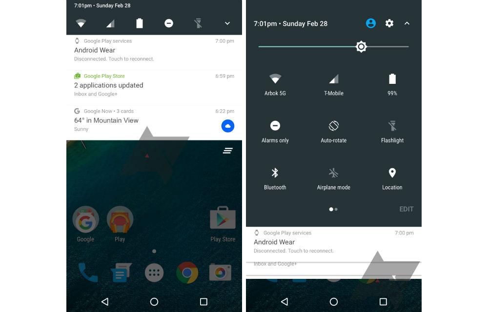 Android N Mockup