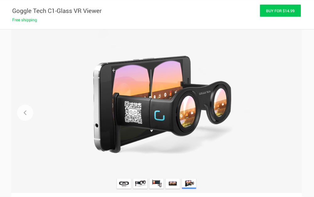 Google Now Selling Cardboard and Other VR Headsets on Google Store