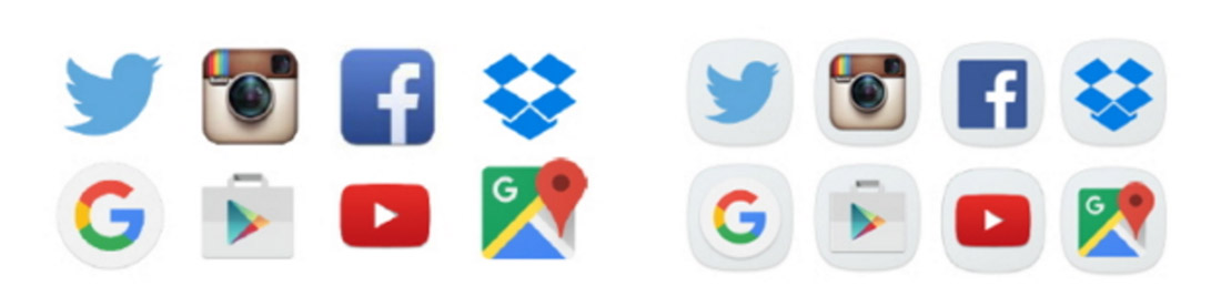 how to move the apps icon on s7