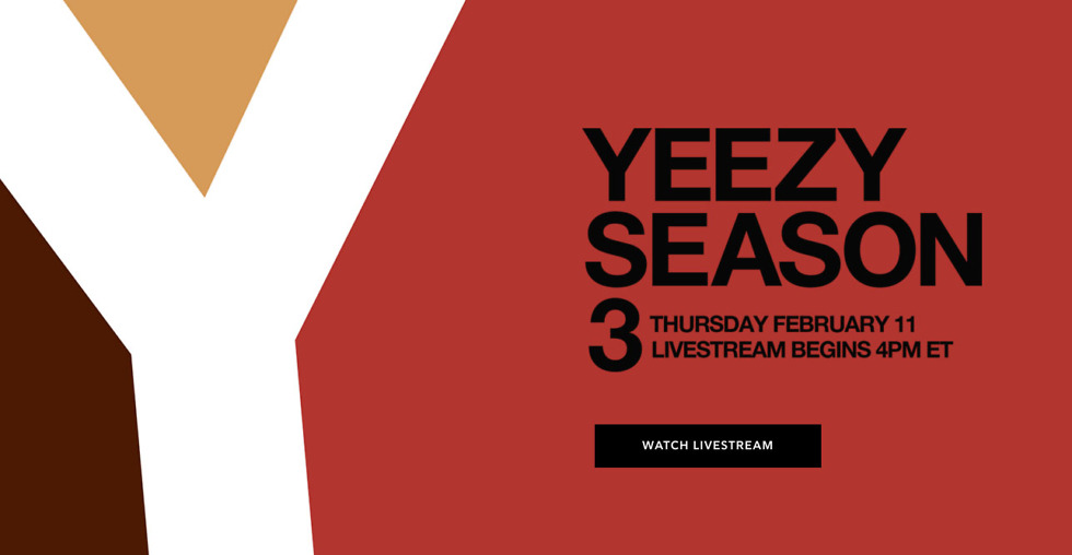 Kanye West is Streaming Yeezy Season 3 and His New Album on