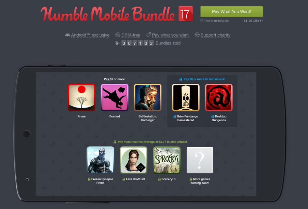 Humble Bundle 17 Offers Lara Croft Go Prune And More At Pay What You Want Pricing A few days back the humble bundle guys had an ama on reddit. droid life