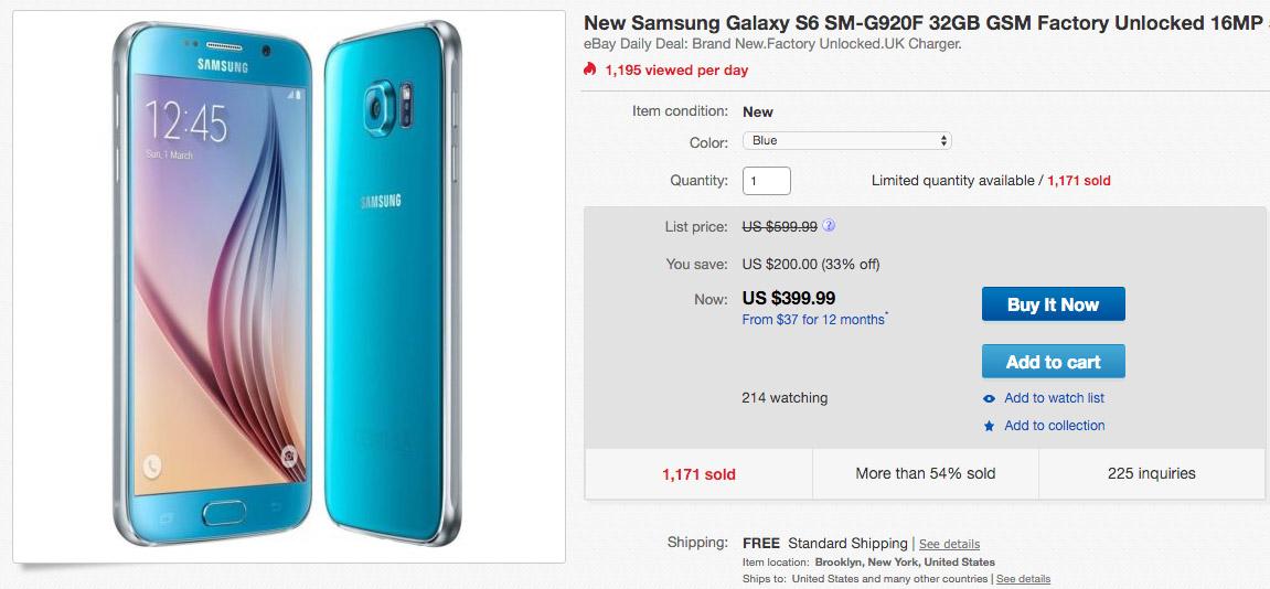 galaxy s6 deals