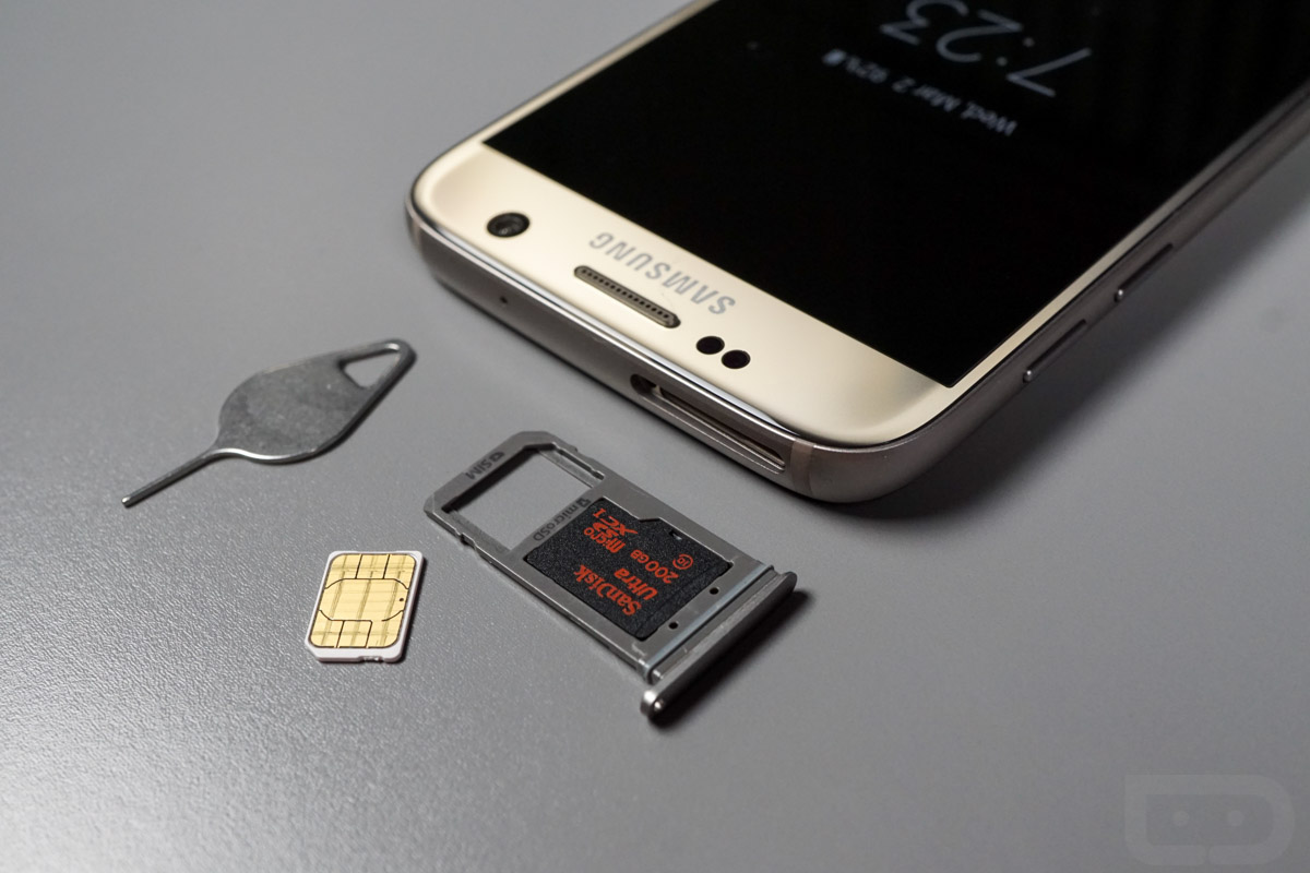 galaxy s7 sim sd card