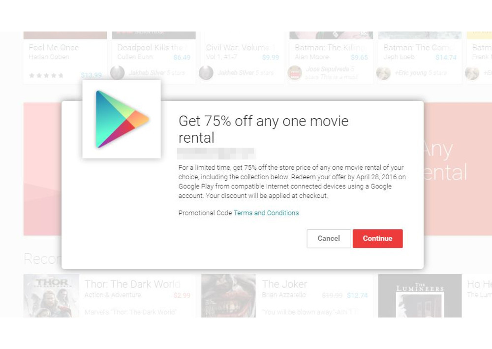 google play rental