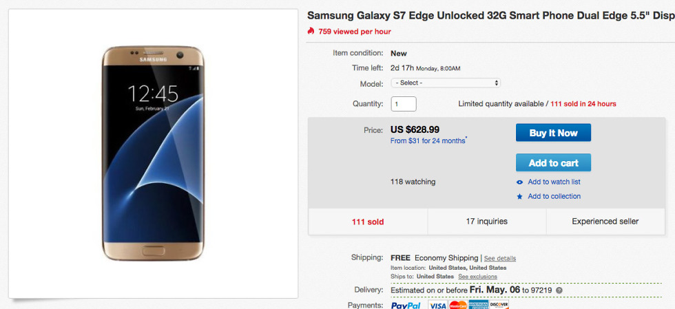 galaxy s7 edge deal