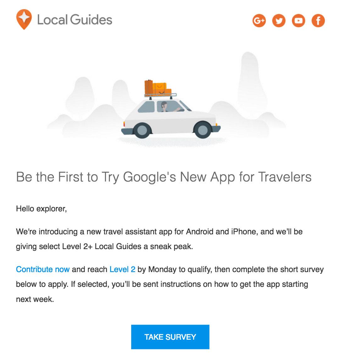 google new travel app