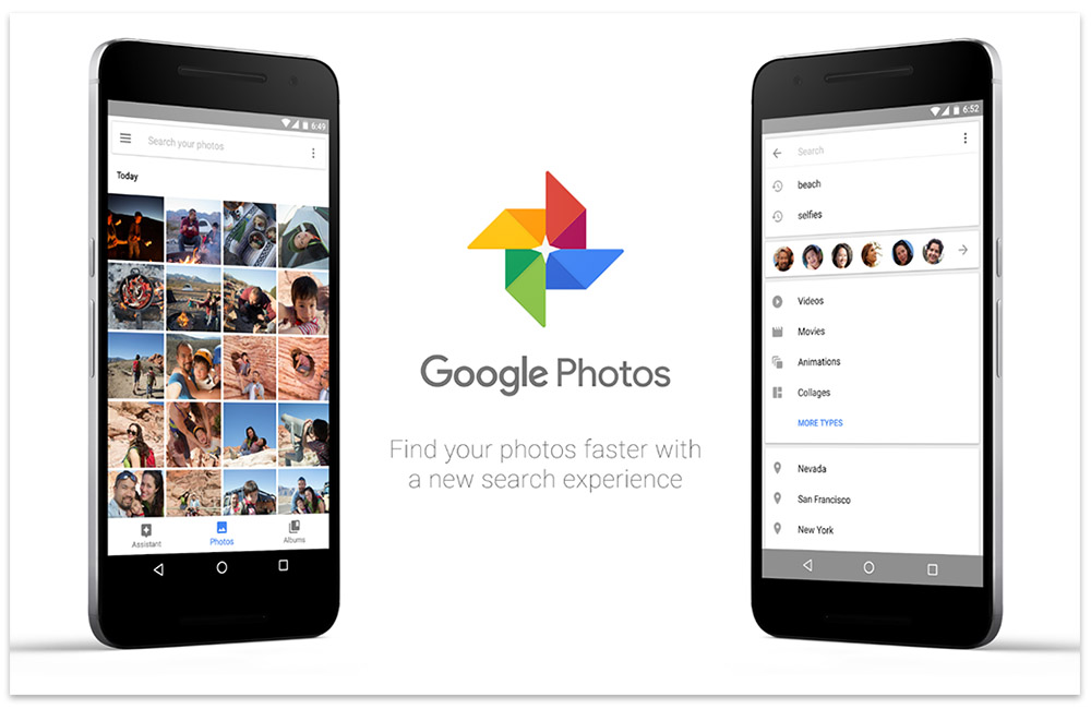 google photos new search