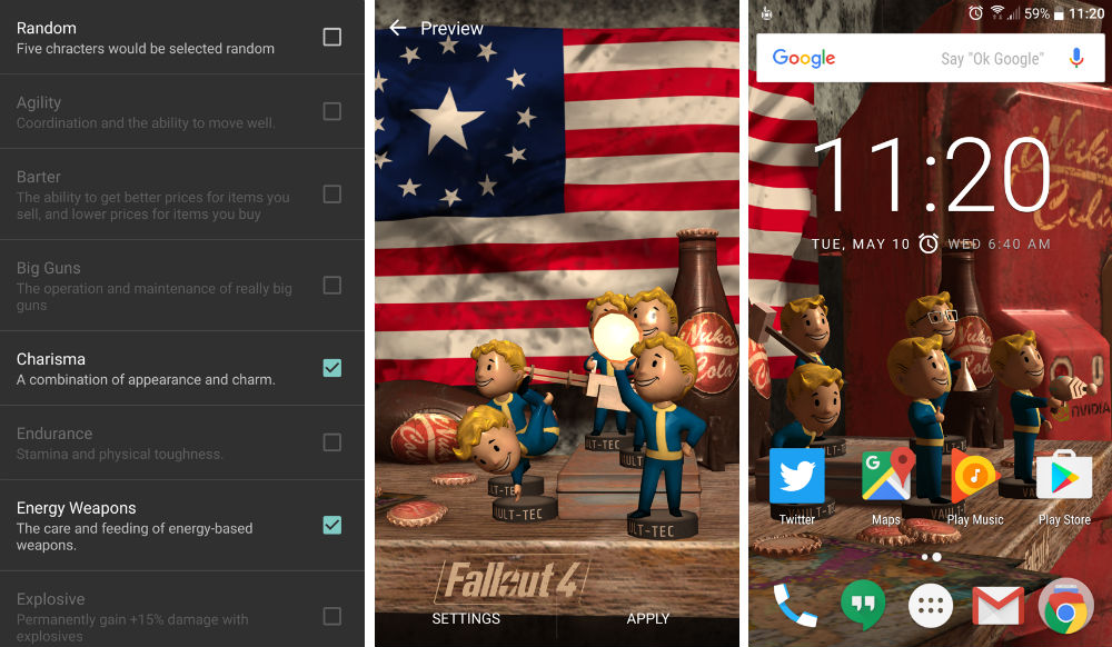 NVIDIA and Bethesda Launch Fallout 4 Live Wallpaper, Filled With Bobbleheads