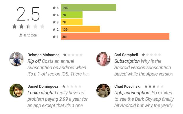 dark sky android reviews