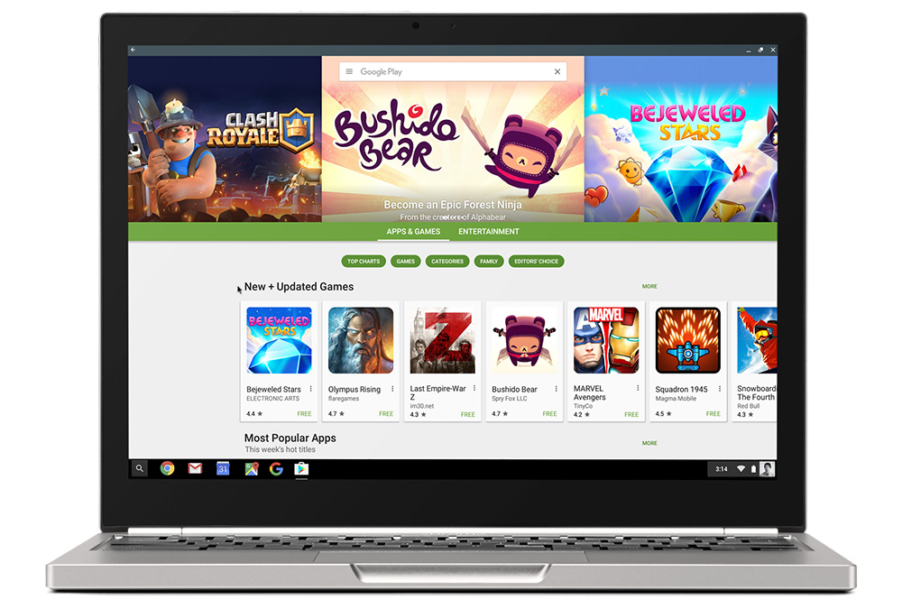 google play chromebooks