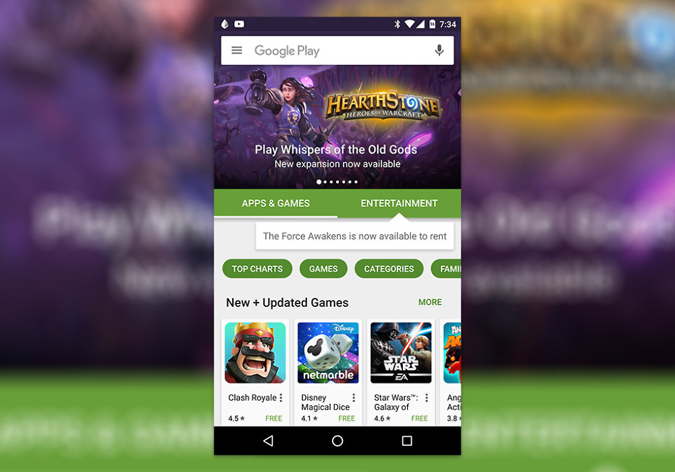 google play pop-ups