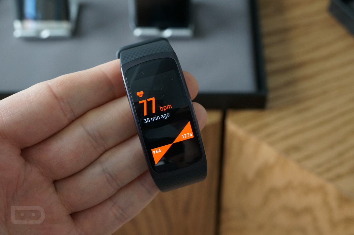 Samsung Gear Fit 2 And Gear Iconx Wireless Earbuds Hands