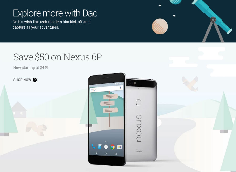 Google Store Fathers Day