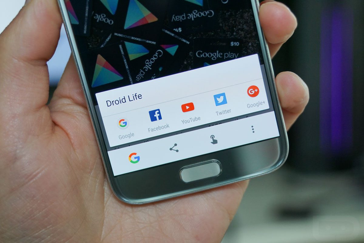 google now on tap touch