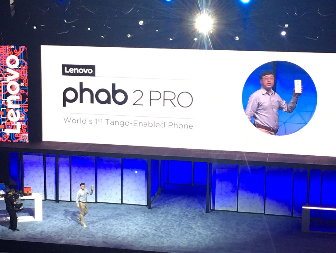 Lenovo unveils 'PHAB2 Pro' handset with Project Tango technology