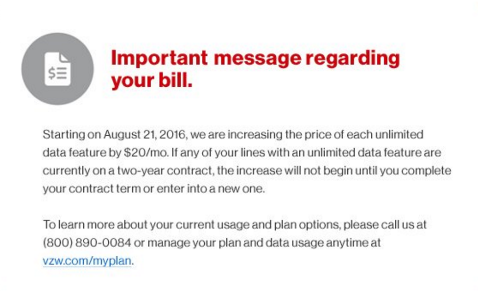 verizon unlimited data increase