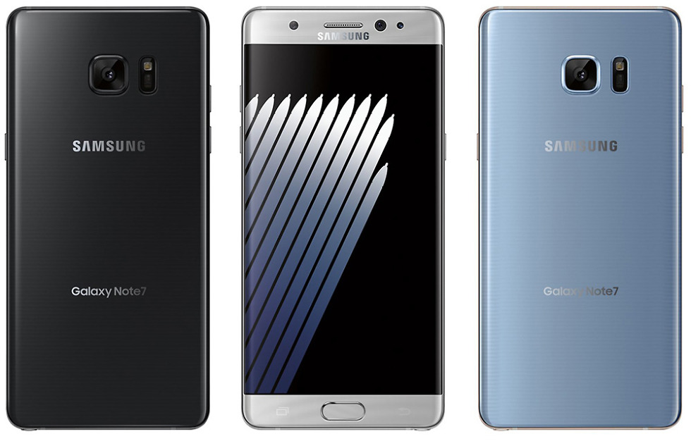 galaxy note 7 colors