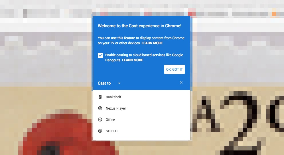 Google Cast for Chrome browser doesn't require an extension anymore