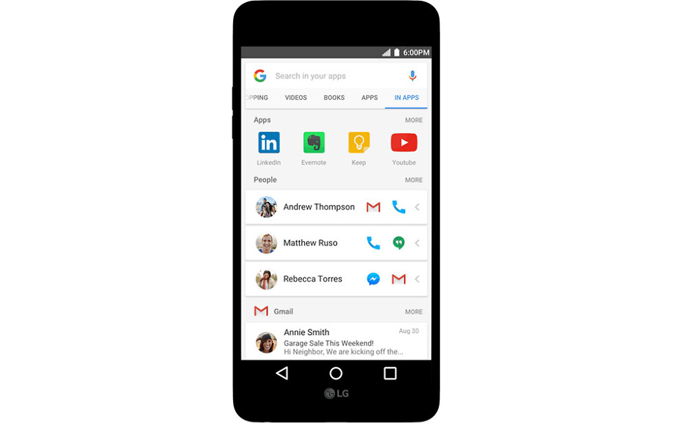 google in apps search