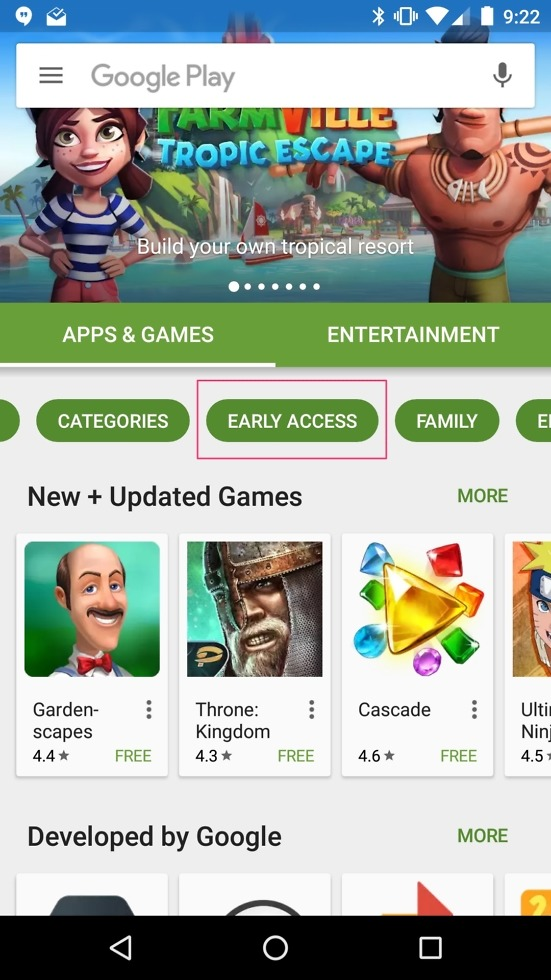 early access android