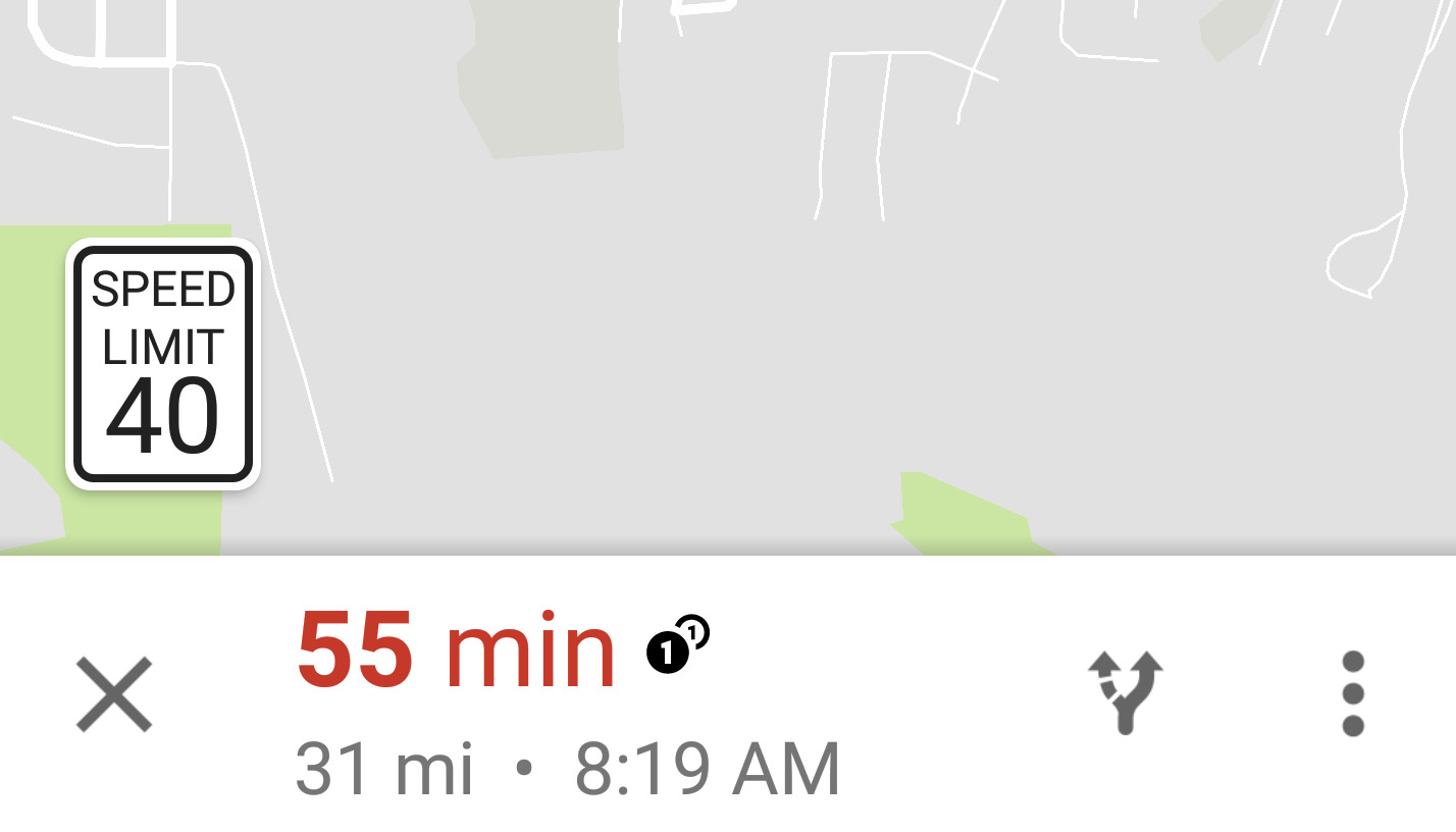 Google Maps Starts Showing Speed Limits During Navigation Droid Life - Us highway map with speed limits