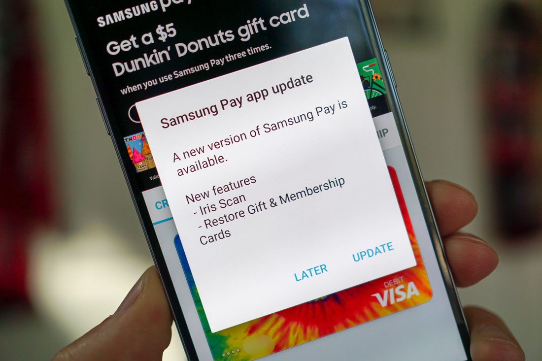 samsung pay update