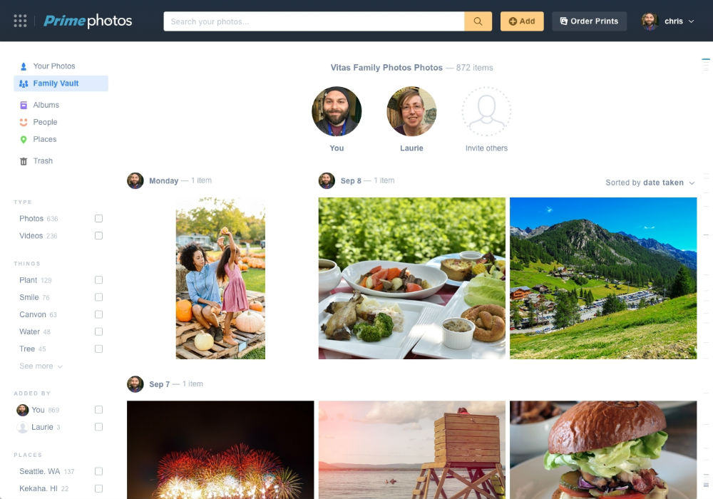 Amazon Prime Photos Gains New 'Family Vault' Photo-Sharing Feature