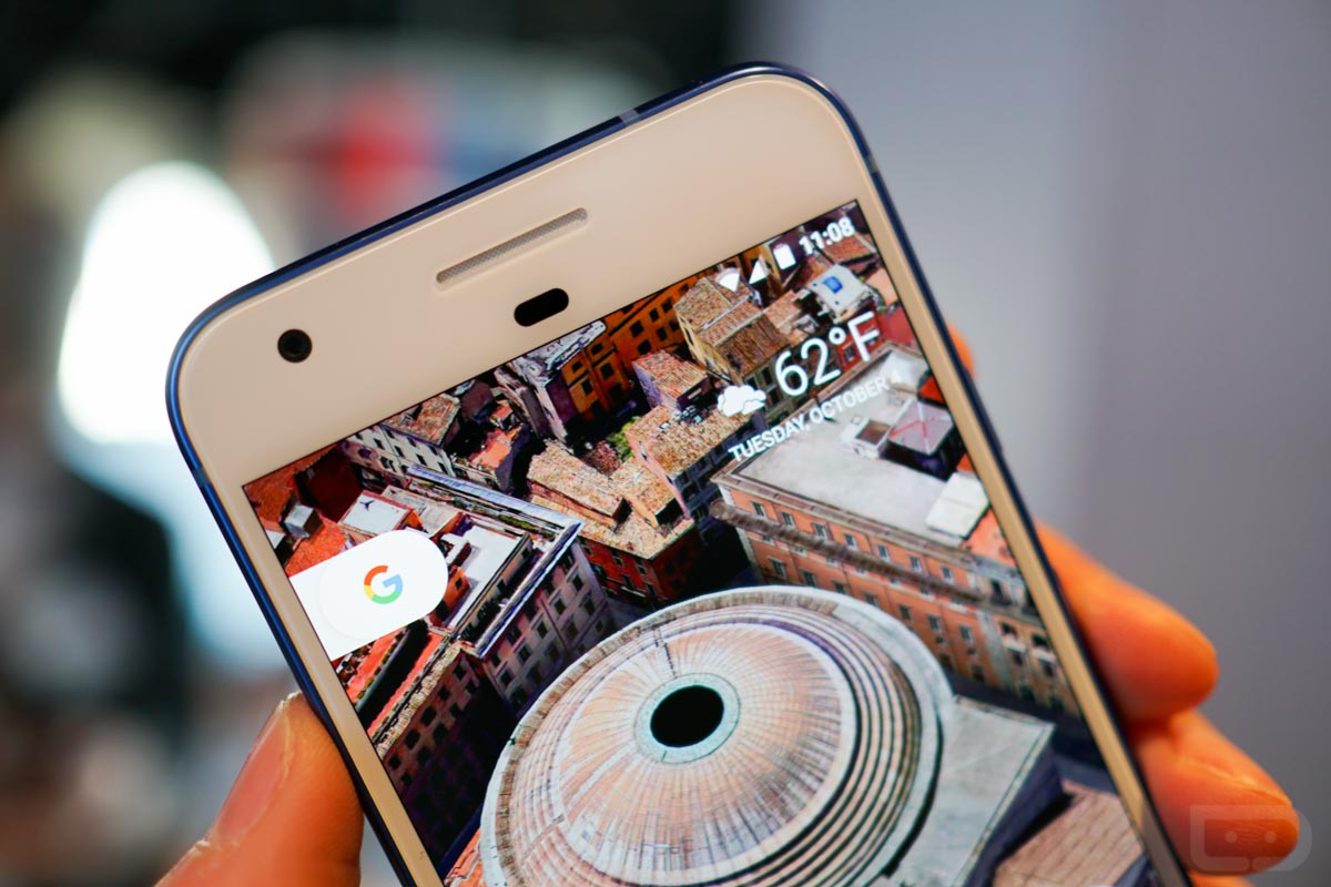 pixel phone blue
